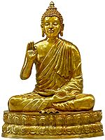 Large Size Lord Buddha Seated on Double Lotus Seat - Tibetan Buddhist