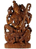 Embellished Maa Saraswati in a Superfine Quality
