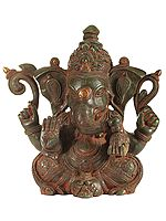 Four Armed Seated Lord Ganesha