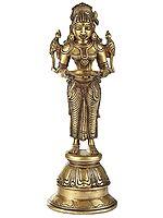 Deep Lakshmi With Parrot