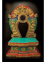 Deity Throne With Inlay Stone Work