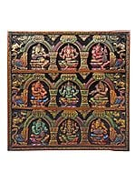 Large Musical Ganesha Panel