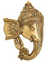 Blessing Ganesha Mask Wall Hanging