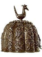 Antiquated Peacock Treasure Box