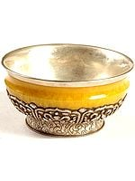 Ashtamangala Amber Dust Ritual Bowl