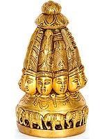 The Ten-faced Shiva-linga Modeled as a Temple Shikhara
