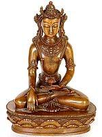 Crowned Buddha in Bhumisparsha Mudra
