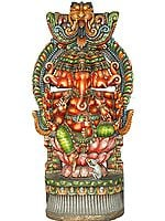 Five-Headed Ganesha Venerated by Rat