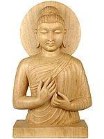 Gandhara Buddha in Dharma Chakra Mudra