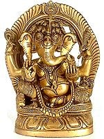 Lord Ganesha Seated In Royal Ease Posture