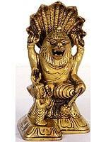 Lord Vishnu as Narasimha with Prahlada