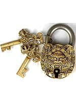 Mahakala Lock with Dorje Keys