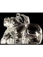 Nandi: The Vehicle of Lord Shiva (Carved in Crystal)