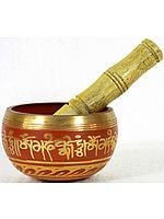 Om Mani Padme Hum Singing Bowl
