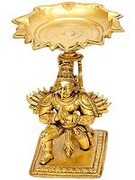 Puja Lamp of Humble Garuda with Pointed Beak