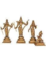 Sita, Rama, Lakshmana and Hanuman