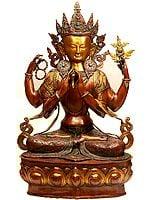 Large Size Chenrezig (Shadakshari Avalokiteshvara Tibetan Buddhist Deity)