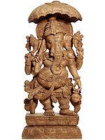 Parasol-carrying Ganesha