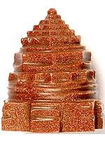 Shri Yantra Carved in Sunstone