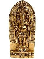 Standing Shri Ganesha with Carved Stele