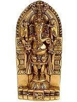 Standing Shri Ganesha with Carved Stele