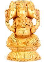 Three-Headed Seated Ganesha
