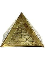 Vastu Pyramid with Surya Yantra, Mangala Yantra, Shri Yantra and Ganesha with Syllable Mantra