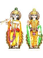 Marble Images of Radha and Krishna
