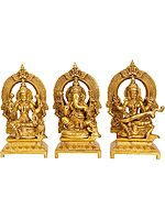 Set Three Statues - Lakshmi, Ganesha and Saraswati