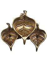 Pipal Leaf Shaped Tri-Puja Diya