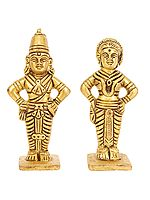 Lord Vitthal or Panduranga and Rukmini
