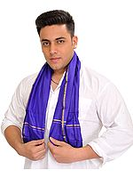 Royal-Blue Ritual Pure Silk Scarf for Men