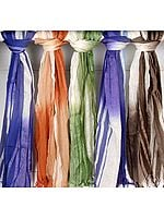 Lot of Five Shaded Scarves