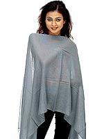 Gray Silk Pashmina Stole