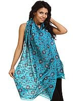 Capri-Breeze Kantha Embroidered Stole from Bengal