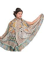 Multi-Color Digital Printed Shawl