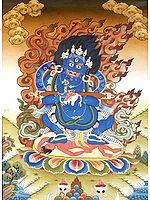 Dandapani Two Armed Pangarnatha Mahakala - Tibetan Buddhist