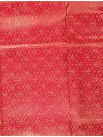 Pink Banarasi Brocade with Golden Thread Weave