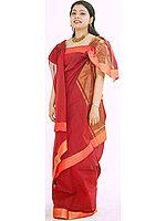 Red Mangalgiri Sari