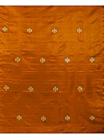 Rust Brocade with Endless Knott (Ashtamangala)