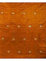 Rust Brocade with Endless Knott (Ashtamangala)