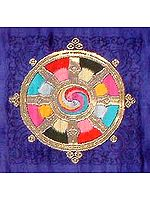 The Eight-Spoked Tibetan Dharma Wheel