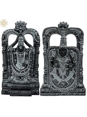 Lord Venkateshvara as Balaji at Tirupati with Goddess Padmavati