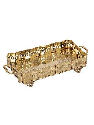 Rectangular Traditional Brass Tray