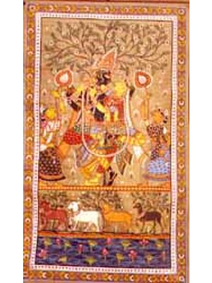 Radha Krishna -paata on tussar silk