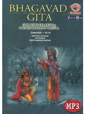 Srimad Bhagvad - Gita (Sanskrit Recital Chapter 1 to 18 CD's along with free text and translation of the Bhagavad Gita by Dr. Annie Besant) (Audio CDs with Book)