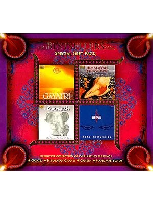 Bestsellers Special Gift Pack (Definitive Collection of Everlasting Blessings <br>Gayatri, Himalayan Chants, Ganesh, Maha Mrityunjay) (Set of Four Audio CDs)