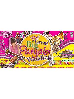 The Great Big Punjabi Wedding (The Biggest Ever Collection of Punjabi<BR> Wedding Songs Exclusive Karaoke DVD for Wedding  Sangeet & Lyrics Book Inside)<br> (Set of Seven Audio CDs with 1 DVD Pack)