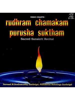 Rudhram Chamakam Purusha Suktham Vedic Chants - Sacred Sanskrit Recital (Audio CD)
