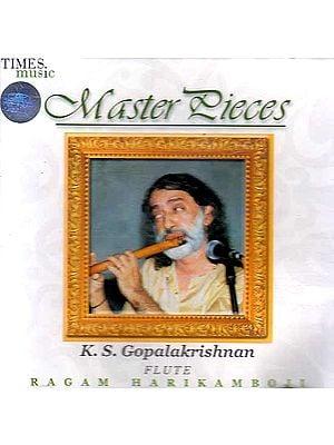 Masterpieces (Flute : Ragam Harikamboji) (Audio CD)